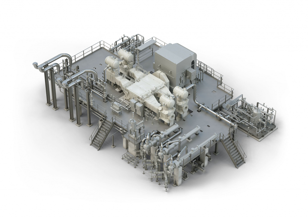 Model of gas compressor system